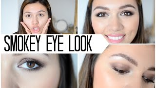 bronzy smokey eyes tutorial