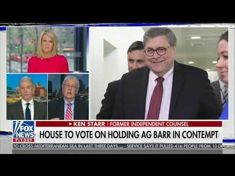 Ken Starr: Mueller's 'whiny' letter to Barr was 'unforgivable sin'