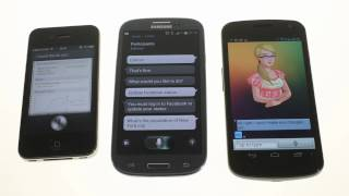 Which is the best? Siri vs. S Voice vs. Speaktoit Assistant for Android
