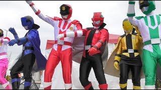 怪盗戦隊ルパンレンジャー VS 警察戦隊パトレンジャーショー アイドルやりたくないルパンイエローw なんか色々混ぜてきて面白い 最前列高画質 Sentai kidsshow