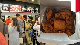 Pria borong ayam KFC setelah ibu-ibu sebut ia gemuk - TomoNews