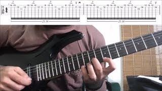 how to play -torn between scylla and charybdis- (corey-s solo, with tabs!)