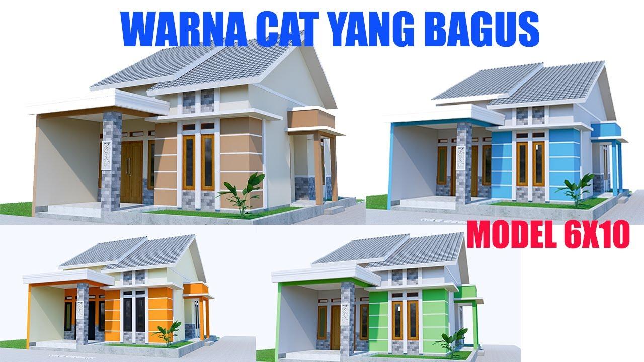 Desain Rumah Ukuran 6x10m !! Warna cat rumah minimalis ...