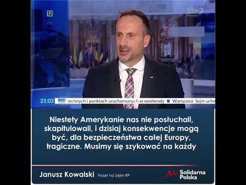 Janusz Kowalski: Porozumienie Biden-Merkel-Putin to w istocie nowe Monachium dla Europy!