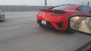 New Acura NSX spotted on I-405, originally recorded 1-2-18.