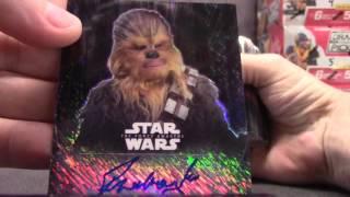Simon's 2016 Star Wars Chrome Force Awakens 2 Box Break