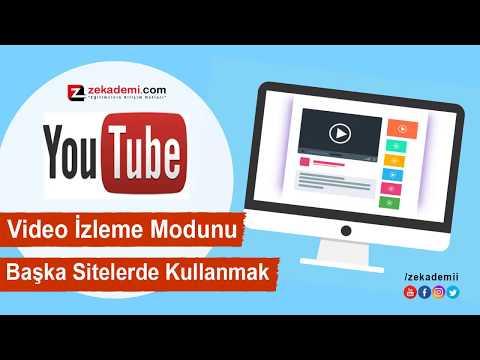 Youtube Mini Video özelliğini Diğer Video Sitelerinde Kullanma