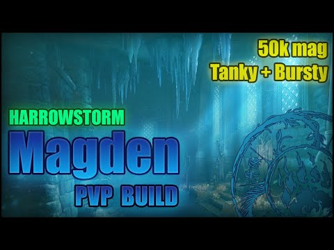 Magicka Warden PvP Build [Harrowstorm] -- Massive AoE Burst [ CP + NoCP ]