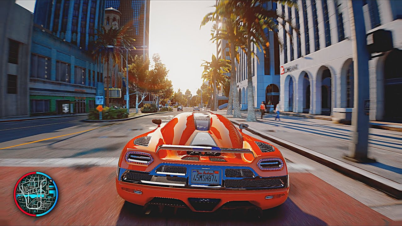 GTA 6 Graphics *NEW 2020* RTX 2080 Ti i9-9900k 4k 60fps MAX SETTINGS - GTA 5 PC Mod