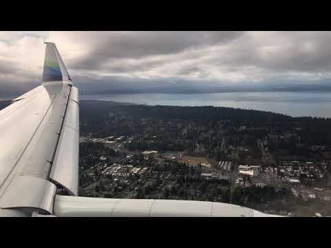 [HD] Alaska Airlines Embraer E175 landing in Everett (PAE)