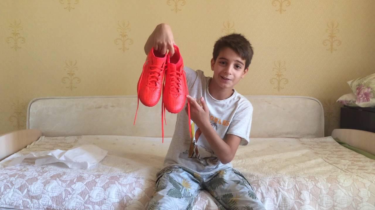 Детские кроссовки Adidas оранжевые - YouTube