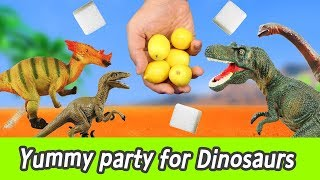 [EN] Yummy party for Dinosaurs! learn taste in english, kids education, collectaㅣCoCosToy