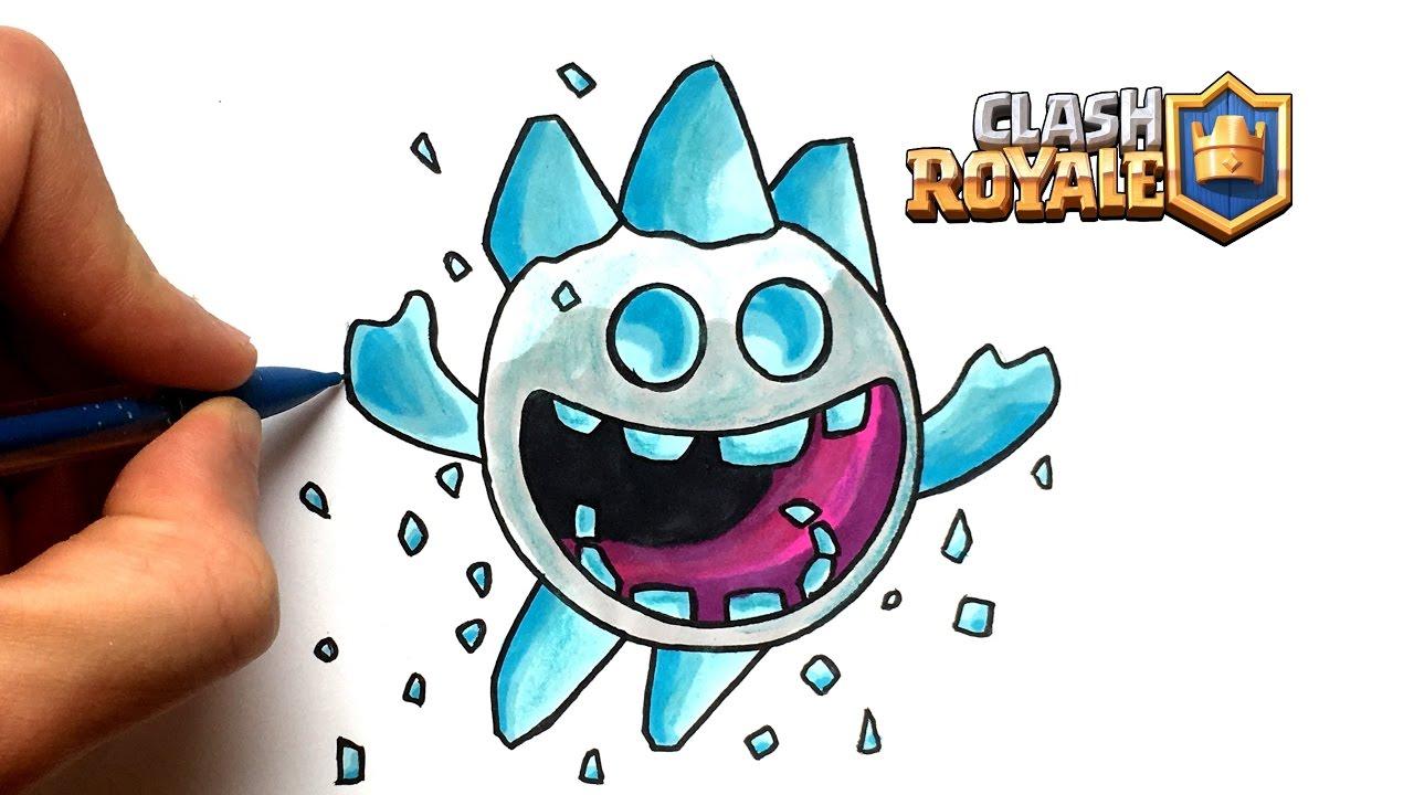 Draw Ice Spirit Clash Royale
