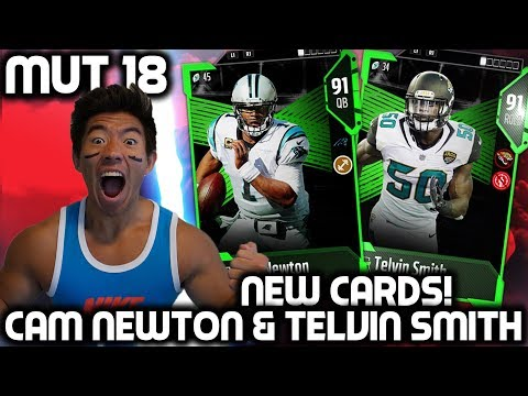 NEW CAM NEWTON & TELVIN SMITH! CAM IS A MACHINE! Madden 18 Ultimate Team