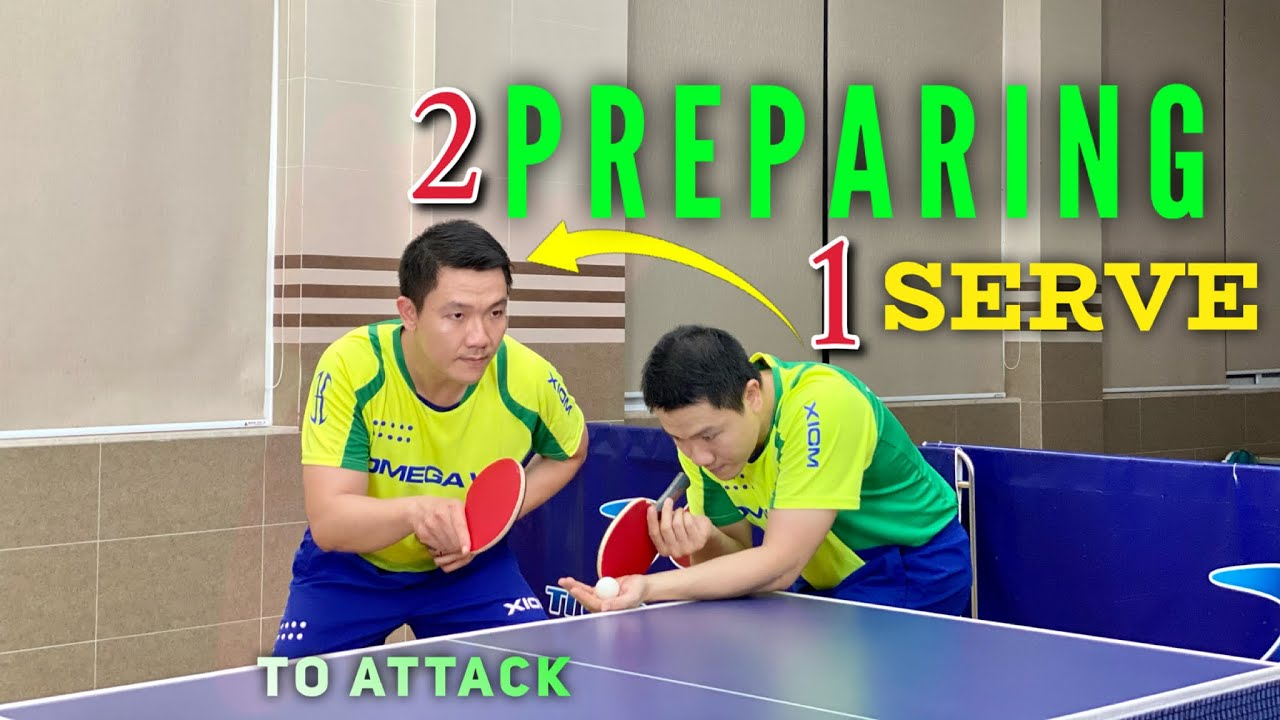 Ma Long and Xu Xin's way of preparing to attack after the serve | Tutorial