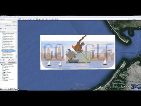 Statue of Liberty Google Doodle . Woman of Rev 12 Leaving. I