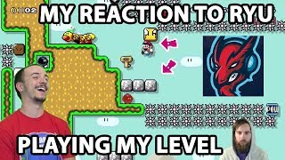 Me Reacting to Ryukahr Playing My Level!!