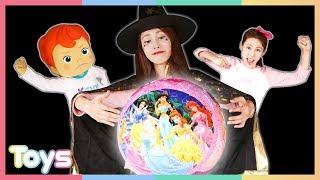 캐리와 꼬마캐빈의 3D 퍼즐 안에 갇힌 디즈니 공주들 구하기 대작전! | 캐리와장난감친구들