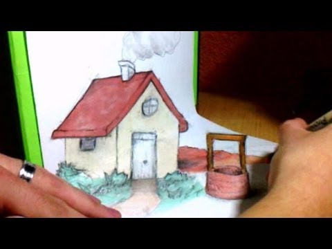 Simple Anamorphic Drawing   The Little House 3D