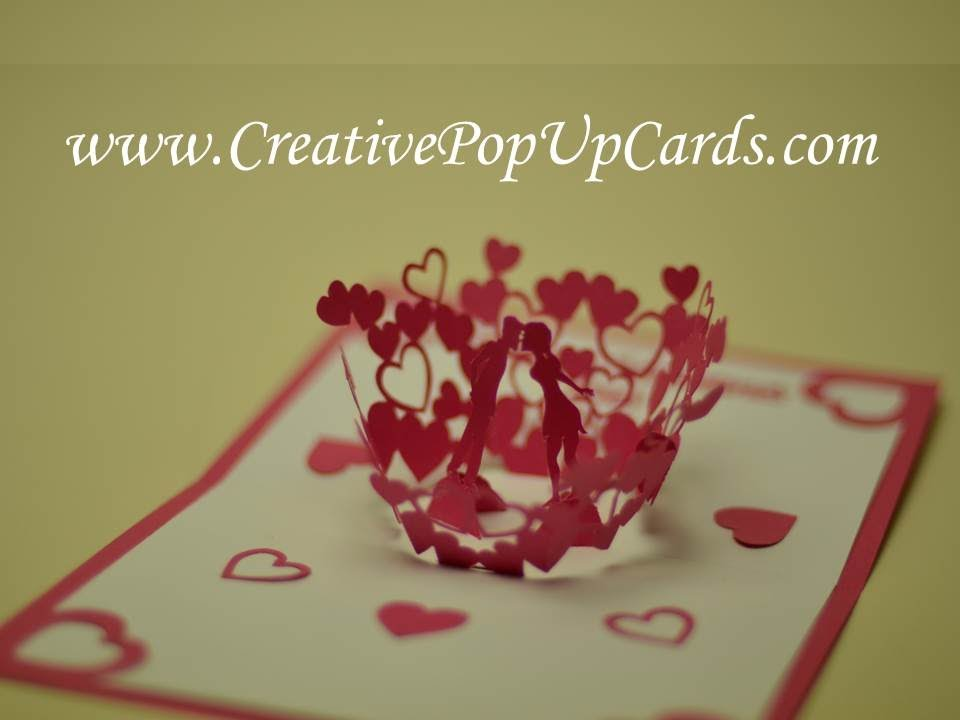 Valentine S Day Kissing Couple Pop Up Card Updated Youtube