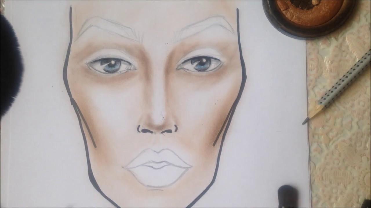 Рисунок косметикой на бумаге
