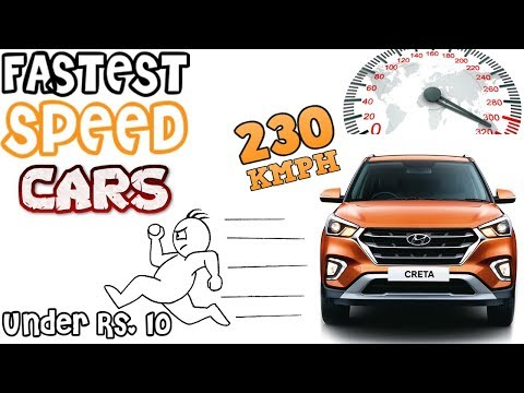 Top 10 Fastest Cars Under 10 Lakhs in India   ENGINE   TOP SPEED   Power (In Hindi)