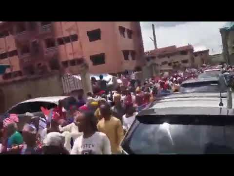 Donald Trump on Tuesday hailed a parade by his supporters in Nigeria, describing it as a great honor