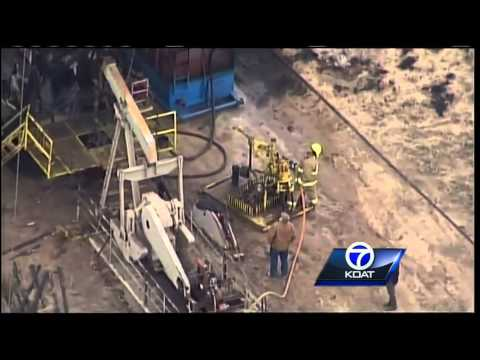 Video: Sky 7 Surveys oil rig fire