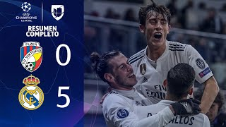 Viktoria Plzen 0-5 Real Madrid - GOLES Y RESUMEN EXTENDIDO - UEFA Champions League