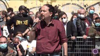 Iglesias acusa a Ayuso de usar a los madrileños de gasolina política