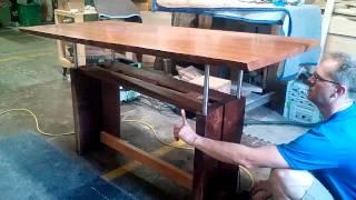 Custom Adjustable Height Desk