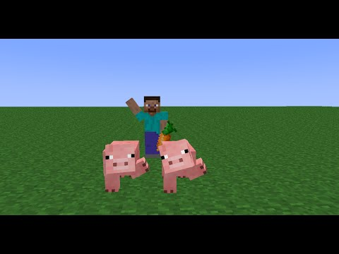 how to ride a pig in minecraft pocket edition