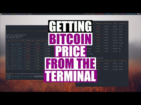 Crypto Currency Rates From The Command Line