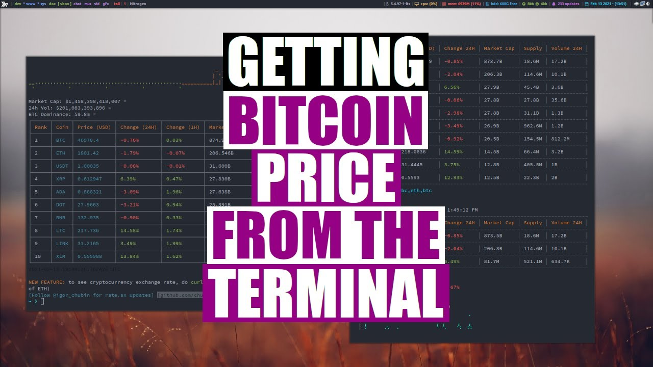 Crypto Currency Rates From The Command Line YouTube