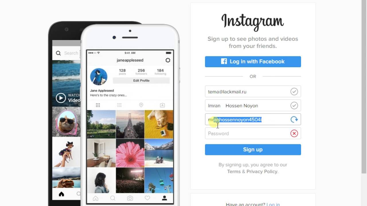Create an instagram account - Create Instagram Account Without Gmail