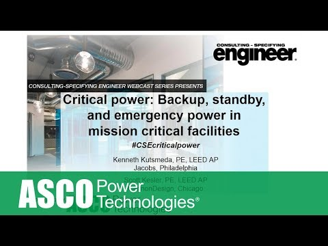 Critical power: Backup, standby, and emergency power in mission critical facilities