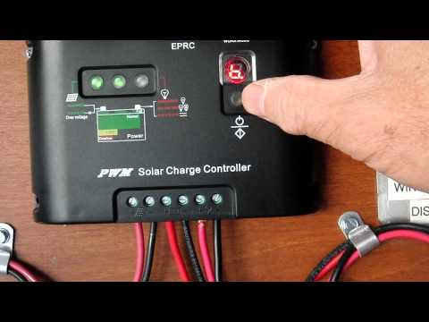 Load control Programming feature of the EPRC solar charge controller AVI