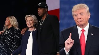 Donald Trump TRASHES Beyonce & Jay Z For Their Hillary Clinton Support