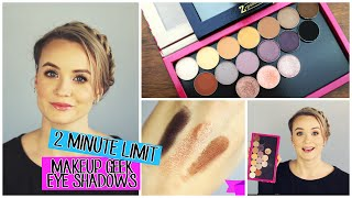 2 Minute Limit Review || Makeup Geek Eye Shadows