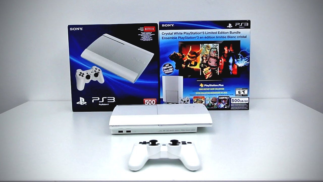 Crystal White PlayStation 3 Limited Edition Bundle Unboxing (White PS3)