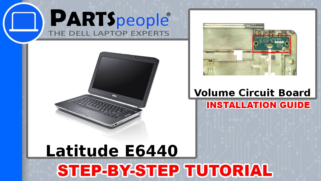 Dell Latitude E6440 Volume Control Circuit Board How To Video Tutorial