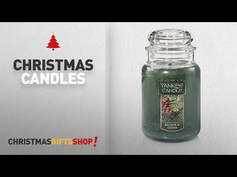 Top Christmas Candles Ideas: Yankee Candle Large Jar Candle, Balsam & Cedar