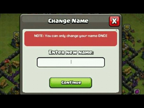How to Get Name Change 3rd time in Clash Of Clans~2017
