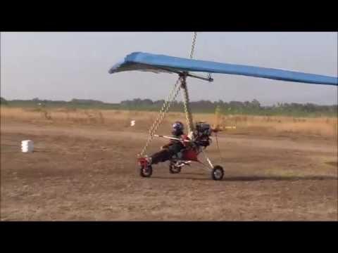 Deltaplano A Motore Prova In Volo