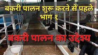 बकरी पालन शुरू करने से पहले ये वीडियो सीरिज जरूर देखे l भाग १ I बकरी पालन का उद्देश्य