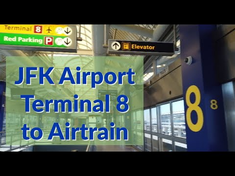 JFK Airport Terminal 8: Arrivals To Airtrain Walk