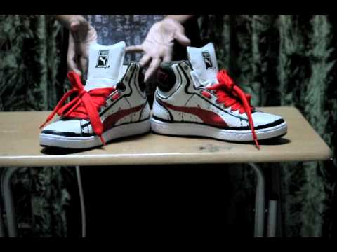 c7a7b0065ea3b8 PUMA first round sketch white red shoe review - YouTube
