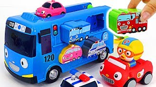 The Tayo Puzzle Bus with the Songs~ Let's play safely with the baby shark and Pororo   PinkyPopTOY