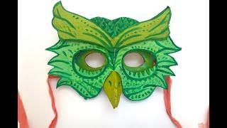 cardboard owl mask #madewithmiriam