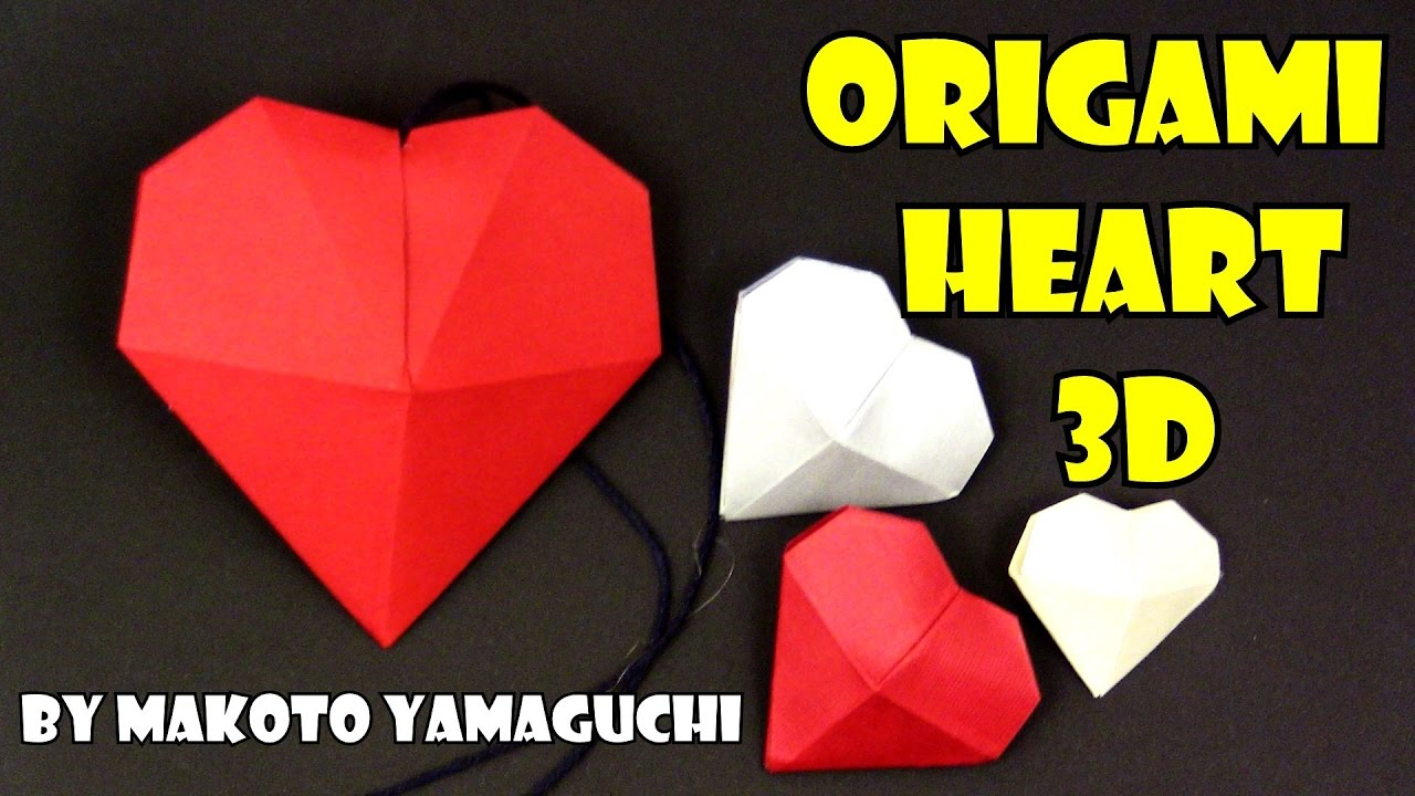 Christmas origami heart 3d easy valentines by makoto yamaguchi christmas origami heart 3d easy valentines by makoto yamaguchi jeuxipadfo Gallery